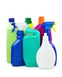 Farbige Plastikflaschen Stockbild