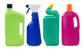 Farbige Plastikflaschen Stockfoto