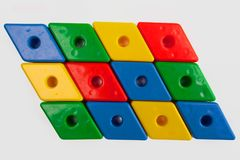 Farbige Plastiksonderkommandos des Designers Lizenzfreies Stockbild
