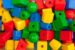 Farbige Plastiksonderkommandos eines Designers Lizenzfreie Stockbilder