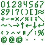 Farbige Platten mit Zahlen und mathematischen Symbolen Lizenzfreies Stockfoto