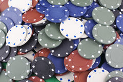 Farbige Pokerchips Lizenzfreies Stockfoto