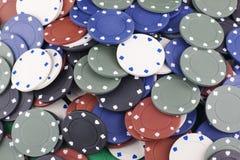 Farbige Pokerchips lizenzfreies stockfoto