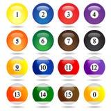 Farbige Pool-Bälle. Lizenzfreie Stockfotografie