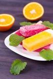Farbige Popsicles Stockfotografie