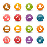 Farbige Punkte - klassische Web-Ikonen Stockfoto