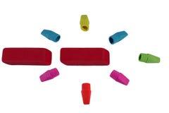 Farbige Radiergummis Stockfoto