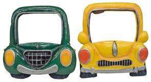 Farbige Rahmen in der Form des Autos Lizenzfreie Stockfotos