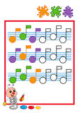 Farbige Reihenfolge, Musik Lizenzfreie Stockbilder