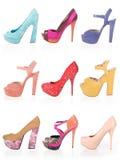 Farbige reizvolle Schuhe stockfoto