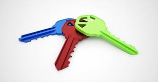 Farbige Schlüssel Lizenzfreies Stockfoto