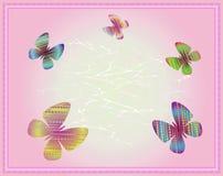 Farbige Schmetterlinge - Vektorillustration Stockfoto