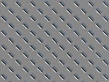 Farbige Schwarzweiss-Kapseln auf dem mit Ziegeln gedeckten Schwarzweiss-Hintergrund, symmetrisch neben einander vereinbart stock abbildung