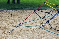 Farbige Seile befestigten zusammen 3 Stockbilder