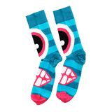 Farbige Socken auf einem weißen Hintergrund stockfotos