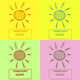 Farbige Sonnenlogos Lizenzfreie Stockfotografie