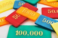 Farbige spielende Chips Stockbilder