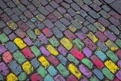 Farbige Steine der Pflasterung Lizenzfreie Stockfotografie
