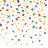 Farbige Sterne mit einer Steigung, transparenter nahtloser Hintergrund Vektor Lizenzfreies Stockfoto