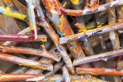 Farbige Steuerknüppel Stockfoto