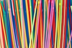 Farbige Strohe Stockbild
