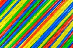 Farbige Strohe lizenzfreies stockfoto