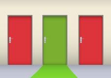 Farbige Tür Lizenzfreie Stockfotos