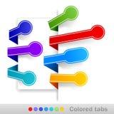 Farbige Tabulatoren. Vektorabbildung Stockfoto