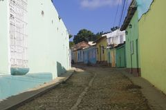 Farbige Trinidad-Straßen in Kuba Stockbild
