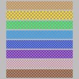 Farbige Tupfenmuster-Hintergrundnetz-Fahnenschablone stellte - abstrakte Vektorgrafikdesigne ein Lizenzfreies Stockbild