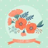 Farbige und Schwarzweiss-Blendenblume Stockbild
