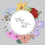 Farbige und Schwarzweiss-Blendenblume Eleganz romantisches Innersymbol auf einem warmen Hintergrund Handabgehobener betrag von il Lizenzfreies Stockfoto
