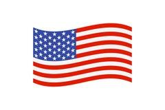 Farbige USA-Flagge lizenzfreie abbildung