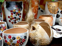 Farbige Vasen Stockbild