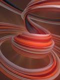 Farbige verdrehte Form Computererzeugte abstrakte geometrische 3D übertragen Illustration Lizenzfreies Stockfoto
