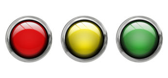 Farbige Vorderansicht der Tasten Lizenzfreie Stockbilder