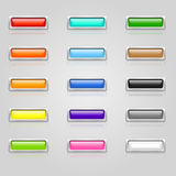 Farbige Web-Tasten Lizenzfreies Stockfoto