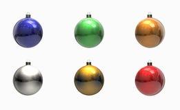 Farbige Weihnachtskugelverzierungen Lizenzfreies Stockbild