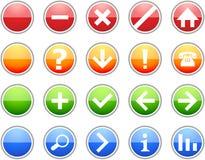 Farbige Zeichen-Ikonen stockbild