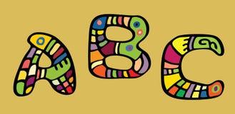 Farbige Zeichen malten Lizenzfreies Stockbild