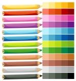 Farbige Zeichenstifte Stockfoto