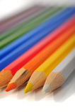 Farbige Zeichenstifte Stockbilder