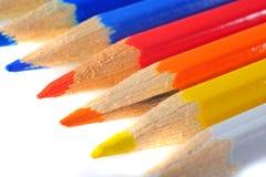 Farbige Zeichenstifte Stockfotografie