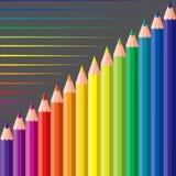 Farbige Zeichenstifte Lizenzfreies Stockfoto