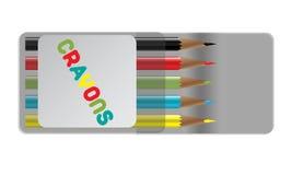 Farbige Zeichenstifte lizenzfreie abbildung