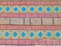 Farbige Ziegelsteine Stockbild