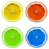 Farbige Zitronescheibe lizenzfreie stockfotografie
