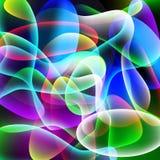 Farbiger abstrakter Blasenhintergrund Stockfoto
