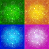 Farbiger abstrakter Hintergrund mit Sternen Stockfotografie