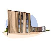 Farbiger Architekturskizzenvektor Stockbild